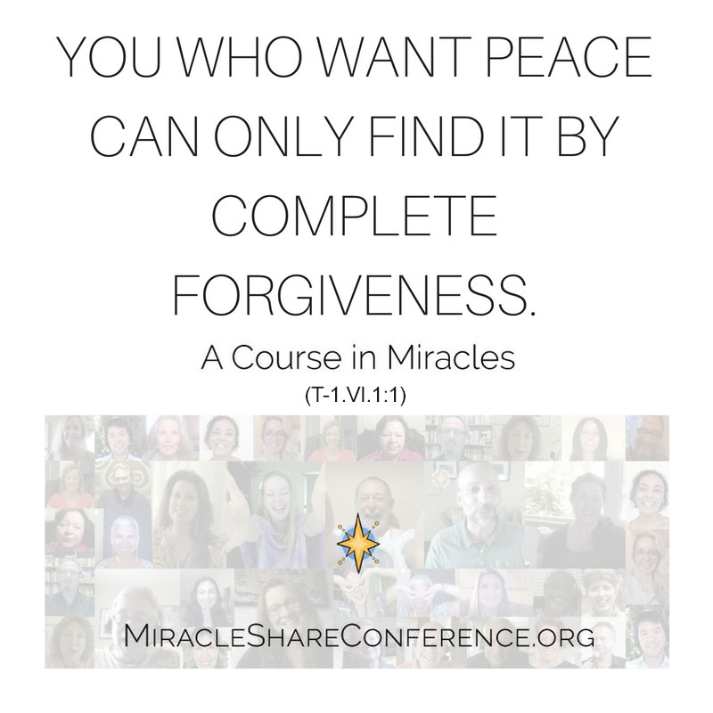 Register Today: MiracleShare.org (ACIM) Virtual Conference: October 21-23, 2016